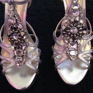 ce8fa09574f Dillard s Shoes - Antonio Melani silver heels! New lower price!