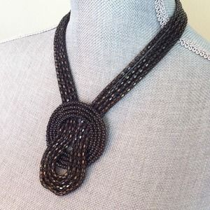 Jewelry - Chocolate chain statement necklace