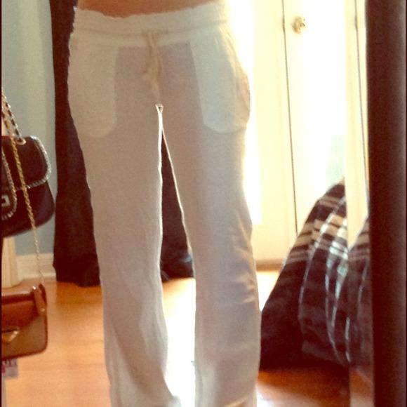 e842409807 Roxy Pants | White Linen | Poshmark
