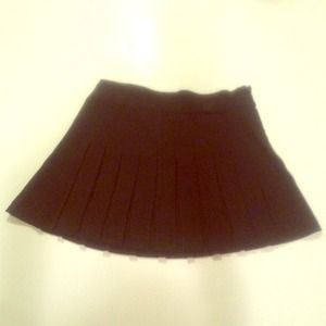 Forever 21 Pleated Black Skirt with Bow at top