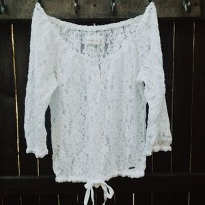 Abercrombie And Fitch White Crop Top