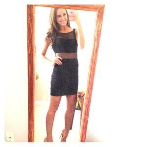 Dresses & Skirts - Black shear paneled party dress
