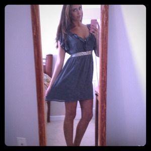 Dresses & Skirts - Charcoal grey cocktail dress