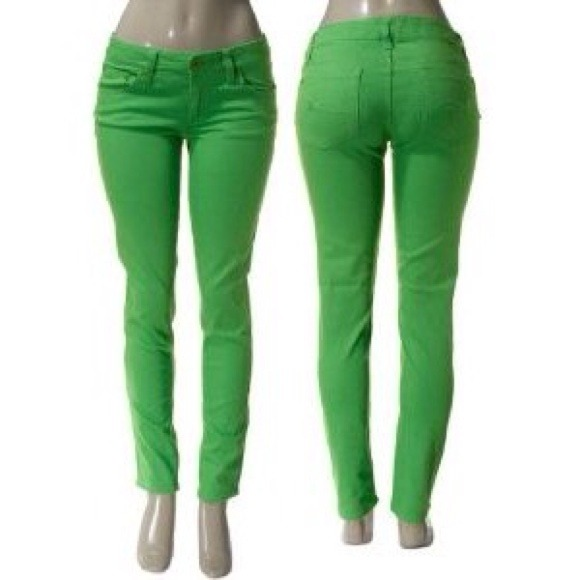 40% off Celebrity Pink Denim - Neon Lime Green Skinny Jeans from
