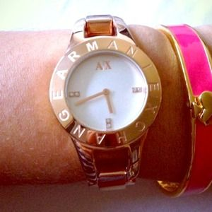 Rose gold tone watch