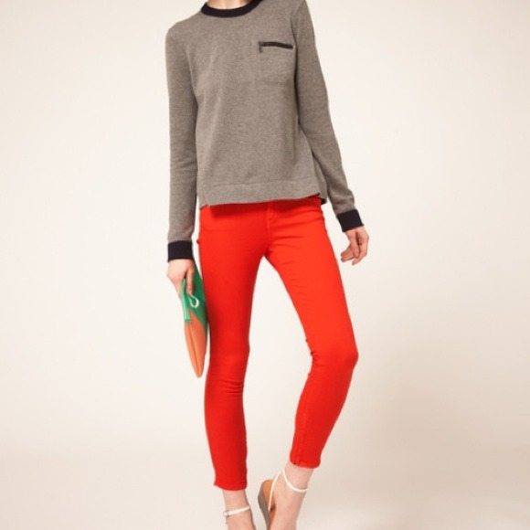 70% off rag & bone Denim - Rag & Bone red orange capri pants! from ...