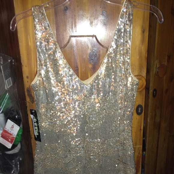 75% off Dresses &amp Skirts - Brand New As You Wish gold and silver ...