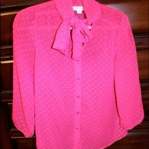 Tops - **sold** Pink Top with Bow Tie