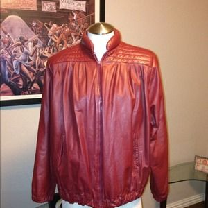 Vintage 80's Red Leather jacket