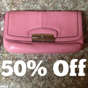✂Reduced ✂Rose Coach wristlet