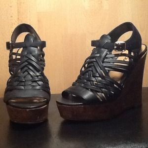 traffic Shoes - !!HOLD!!Black wedges