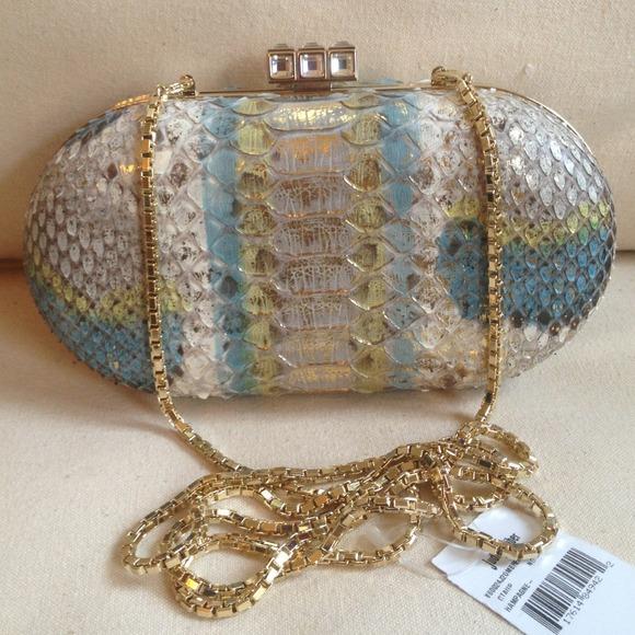 Judith Leiber Handbags - 🎉HOST PICK🎉 Judith Leiber Snakeskin Clutch NWT