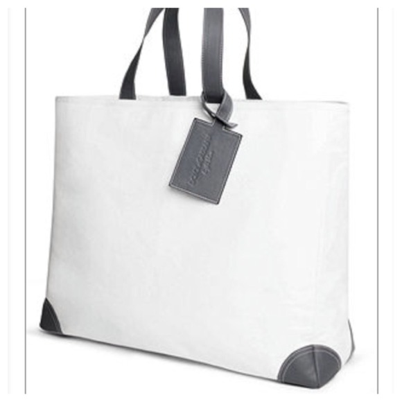 ac4989785c6e Dolce   Gabbana Light Blue Tote Bag White Canvas