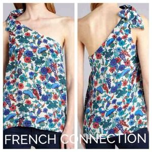 French Connection Tops - NEW French Connection 100% Silk One Shoulder Top