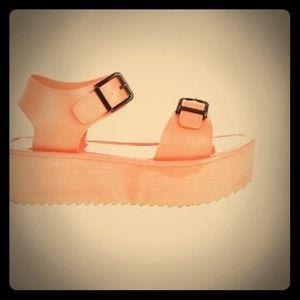 Shoes - Coral Flatform Sandals