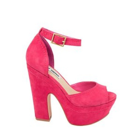 "71% off Steve Madden Shoes - Steve Madden Hot Pink ""Grettta ..."
