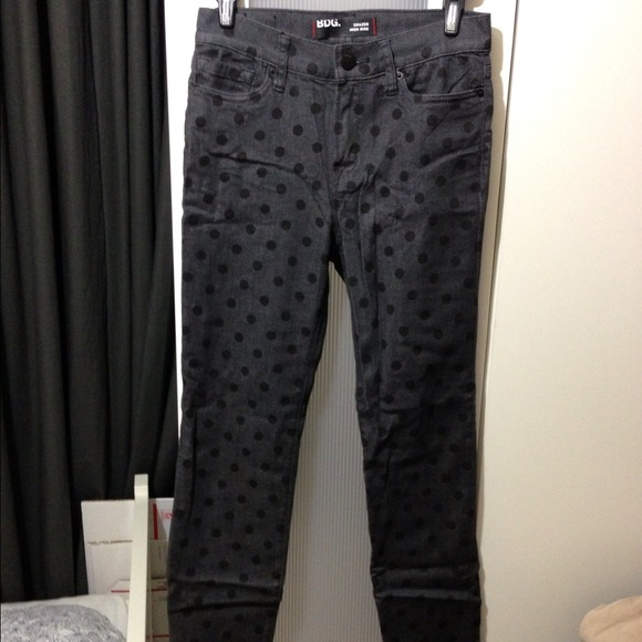 Urban Outfitters - ⬇ 💲⬇️BDG black polka dot denim jeans high ...