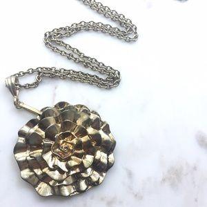 Forever 21 Gold Flower Pendant