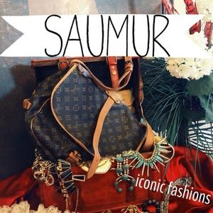 Host  Pick authentic   Louis Vuitton Saumur mm