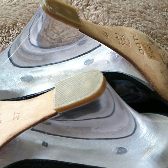 aldo sold ebay lucite wedge heels from carla s