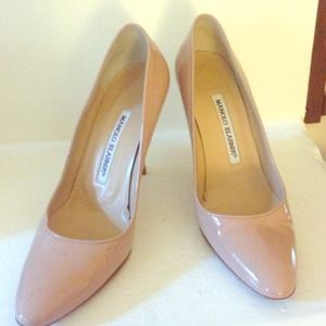 "Manolo Blahnik ""BB""Patent Leather Pumps"