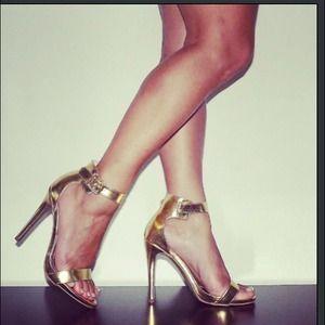 Gold 5 Inch Heels
