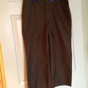 Banana Republic Sz 6 Martin Fit Cropped brown pant