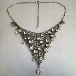 Burlesque rhinestone statement necklace