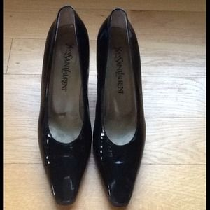 YSL patent black heels (must see pictures)