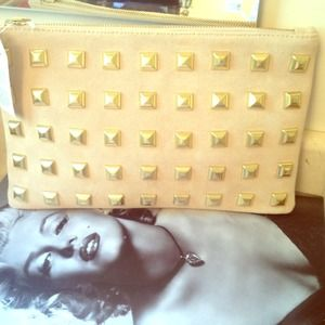 ASOS Clutches & Wallets - Gold studded clutch