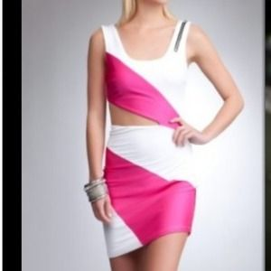 New bebe color-block dress