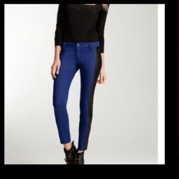 bebe Jeans - New bebe amazing leathered blue jeans