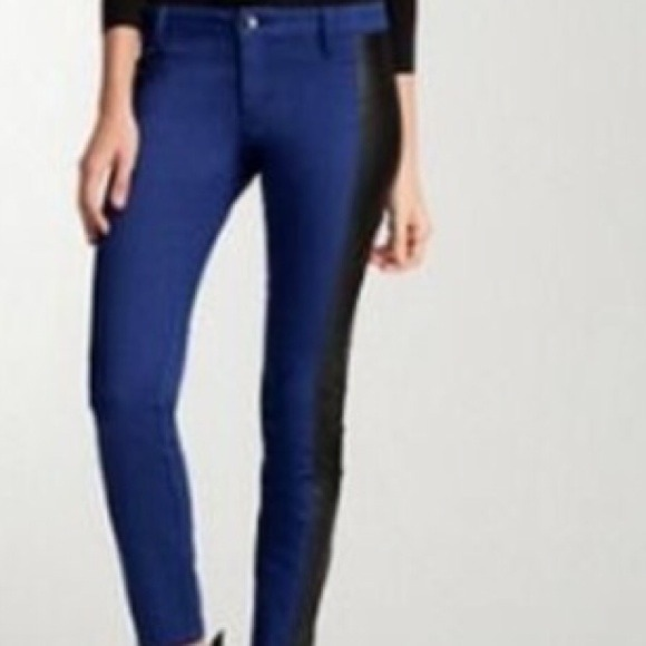 bebe Denim - New bebe amazing leathered blue jeans 3