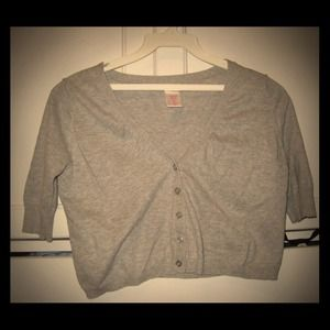 Sweaters - Light Grey Cardigan