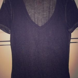 Tops - Dark Grey Vneck