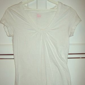 Tops - White Vneck Blouse