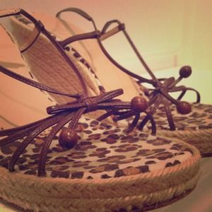 REDUCED PRICE FROM $100 Moschino Cheetah wedges