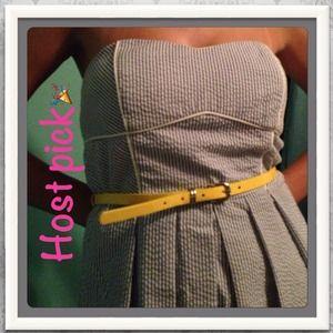 BCX Dresses & Skirts - Host pick Strapless Seersucker dress