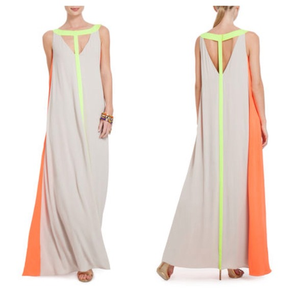 Bcbgmaxazria colorblock dress