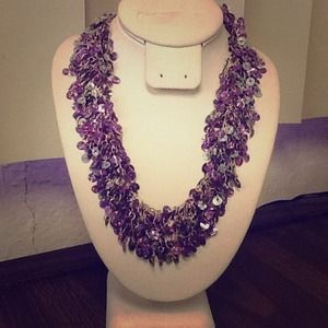 Lavender beads necklace