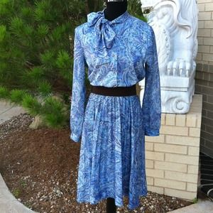 Vintage Bow Secretary Dress
