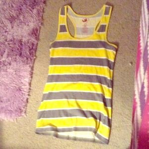 Striped racer back tank top!