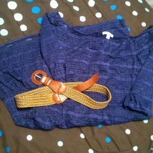 dELiA*s 3/4 Sleeve Navy Lace Dress