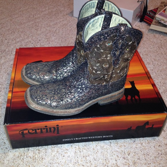 ferrini Boots - Ferrini Cowgirl Cool leather sparkle boots