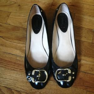 N.Y.L.A. Shoes - N.Y.L.A. 60s Inspired Patent leather wedges