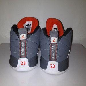 b010c060937e usa jordan retro 12 girls toddler basketball shoes wolf grey vivid 05c20  f627c  australia nike shoes jordan 12 cool grey orange white toddler size  6c d3c56 ...