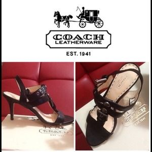 Brand new COACH heel sandals