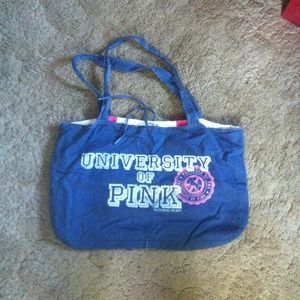 Victoria's Secret Handbags - Gorgeous University of PINK Reversable Tote!