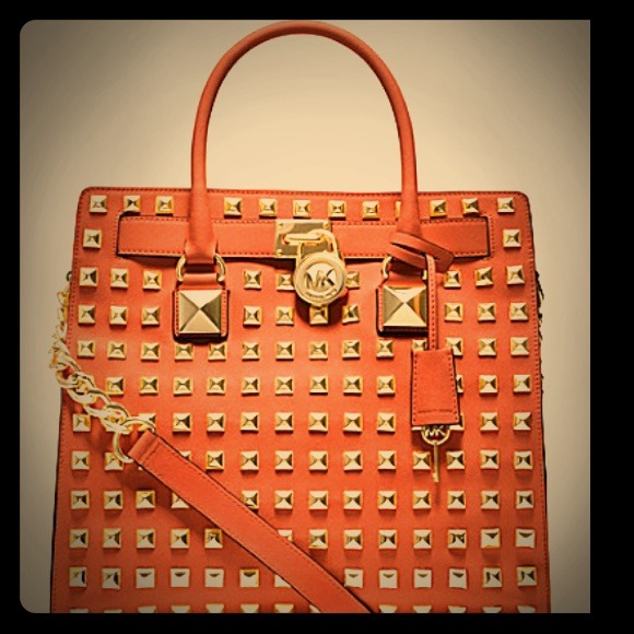 3500770d057fc3 Michael Kors Bags | Hamilton Studded North South Tote Bag | Poshmark