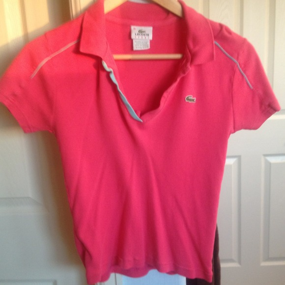 79 off lacoste tops authentic lacoste salmon colored